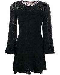 Twin Set - Трикотажное Платье С Геометричным Узором - Lyst
