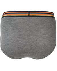 Paul Smith Slip mit Streifen - Grau