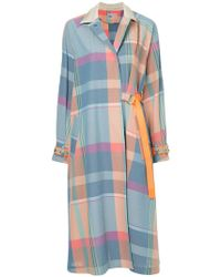 Kolor | Checked Buckle-strap Coat | Lyst
