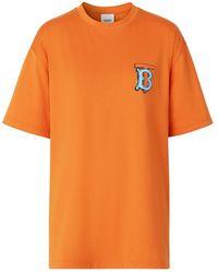 Burberry モノグラム Tシャツ - オレンジ