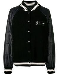 Givenchy リブ ボンバージャケット - ブラック