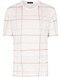 Ermenegildo Zegna チェック Tシャツ - ホワイト