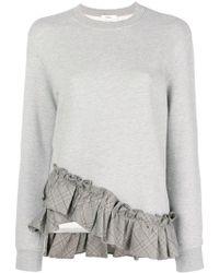 CLU - Ruffled Hem Sweatshirt - Lyst