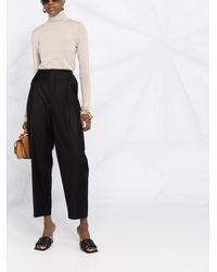 Totême High-waist Cropped Pants - Black