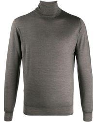 Dell'Oglio Толстовка Mastice С Высоким Воротником - Серый