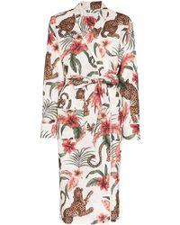 Desmond & Dempsey Soleia Tie-waist Robe - White