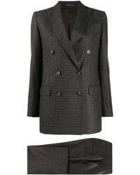 Tagliatore Checked Two Piece Suit - Gray