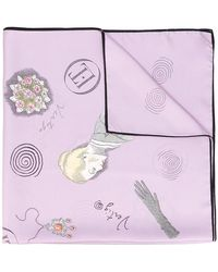 Olympia Le-Tan - Floral Patch Scarf - Lyst