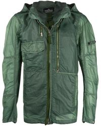 Stone Island Shadow Project Куртка На Молнии - Зеленый