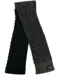 Raf Simons ロゴパッチ スカーフ - グレー