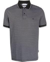 Calvin Klein Полосатая Рубашка-поло С Логотипом - Черный