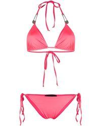 Philipp Plein Embellished Signature Bikini - Pink