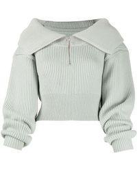 Jacquemus Zip-front Sweater - Green