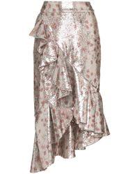 Johanna Ortiz - Cacica Asymmetric Sequin Skirt - Lyst