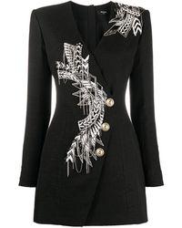 Balmain - ビーズトリム ドレス - Lyst