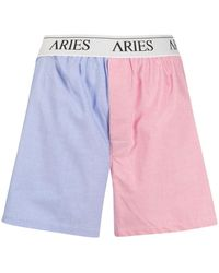 Aries バイカラーボクサーパンツ - ピンク