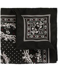 Dolce & Gabbana Schal mit Kronen-Print - Schwarz