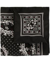 Dolce & Gabbana Crown Print Scarf - Black