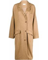 Mes Demoiselles オーバーサイズ ロングコート - ブラウン