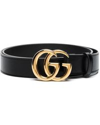 Gucci Ceinture à boucle logo Double G - Noir