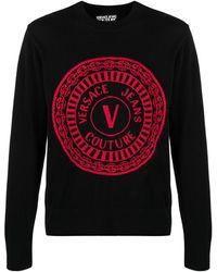 Versace Jeans Couture ロゴ プルオーバー - ブラック