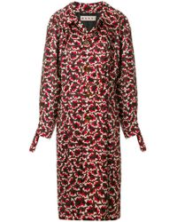 Marni - Geometric Patterned Trench Coat - Lyst