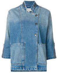 Current/Elliott - Giacca di jeans con maniche crop - Lyst