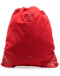 Versace Medusa Logo Backpack - Red
