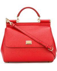 Dolce & Gabbana Большая Сумка-тоут 'sicily' - Красный