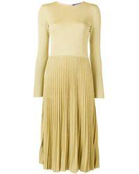 Ralph Lauren Collection Robe plissée à effet métallisé
