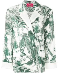F.R.S For Restless Sleepers Tropical Print Top - Groen