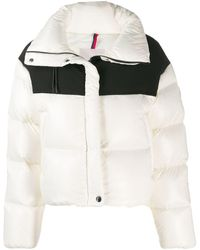 Moncler Hooded Two-tone Quilted Shell And Jersey Down Jacket - White