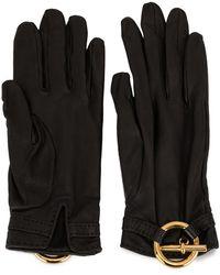 Hermès Pre-owned Logo Charm Gloves - Black