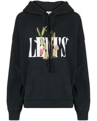 Levi's プリント パーカー - ブラック