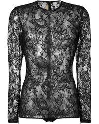 Elie Saab - Floral Sheer Body - Lyst