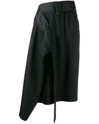 ROKH プリーツスカート - ブラック