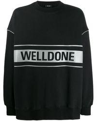 we11done Logo Print Sweatshirt - Black