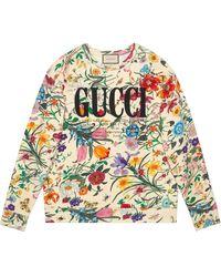 Gucci Felpa oversize con logo - Multicolore
