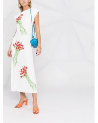 BERNADETTE Floral-print Maxi Dress - White