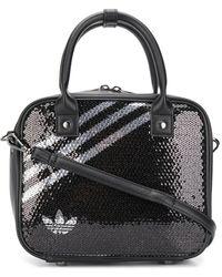 adidas スパンコール ハンドバッグ - ブラック