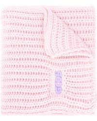 Gcds ロゴプレート スカーフ - ピンク