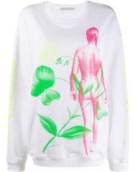 Christopher Kane Sweat Flower Lady - Blanc