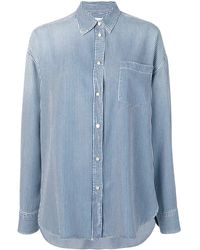ff0736d04a Camicia a righe oversize - Blu