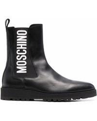 Moschino ロゴ チェルシーブーツ - ブラック