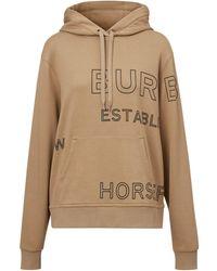Burberry Худи Оверсайз С Принтом Horseferry - Естественный