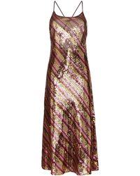 RIXO London Sylvie Sequin-embellished Midi Dress - Metallic