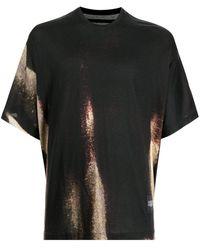 Julius Abstract-print T-shirt - Black