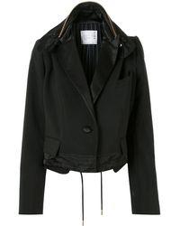 Sacai - オーバーサイズ クロップドジャケット - Lyst