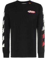 Off-White c/o Virgil Abloh T-Shirt mit Logo-Streifen