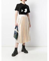 Sara Lanzi High-waist Pleated Skirt - Natural